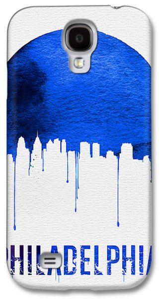 Philadelphia Skyline Blue Galaxy S4 Case by Naxart Studio