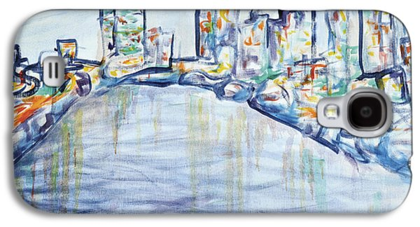 Philadelphia Skyline Galaxy S4 Case by Elizabeth Blair-Nussbaum