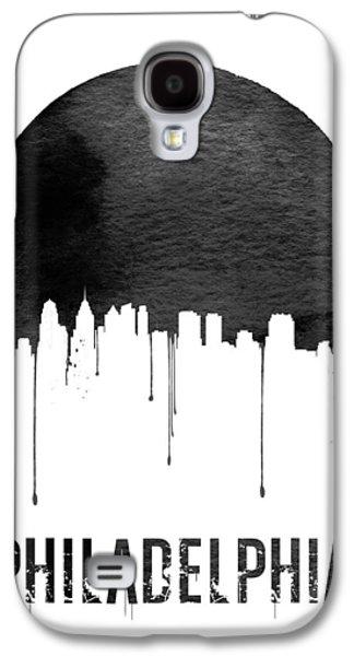 Philadelphia Skyline White Galaxy S4 Case by Naxart Studio