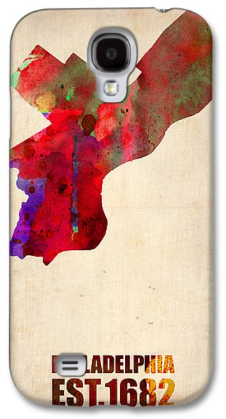 Philadelphia Watercolor Map Galaxy S4 Case by Naxart Studio