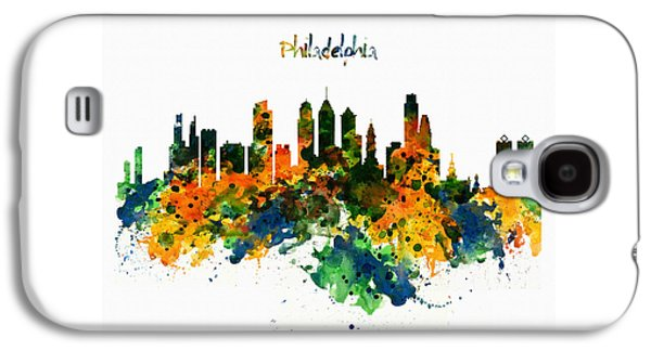 Philadelphia Watercolor Skyline Galaxy S4 Case