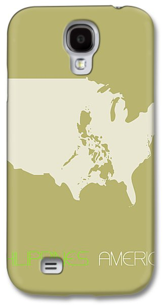Philippines America Poster Galaxy S4 Case