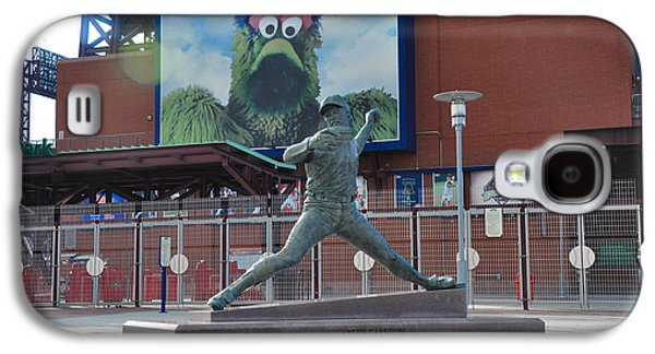 Phillies Steve Carlton Statue Galaxy S4 Case by Bill Cannon