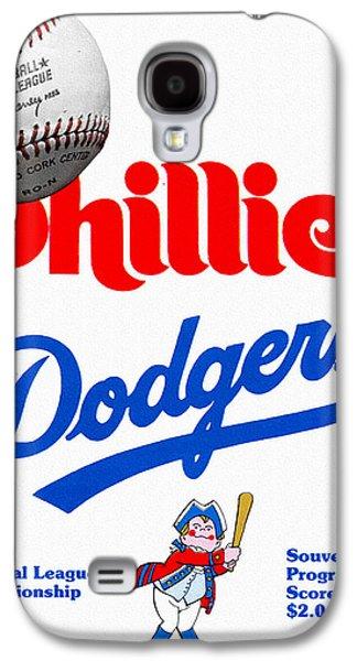 Phillies Versus Dodgers 1977 Scorecard Galaxy S4 Case by John Farr
