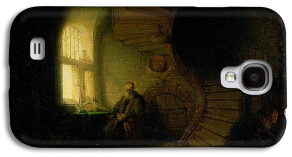 Philosopher In Meditation Galaxy S4 Case by Rembrandt