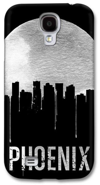 Phoenix Skyline Black Galaxy S4 Case by Naxart Studio