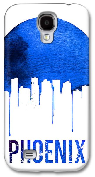 Phoenix Skyline Blue Galaxy S4 Case by Naxart Studio