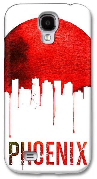 Phoenix Skyline Red Galaxy S4 Case by Naxart Studio