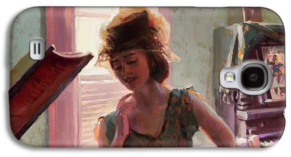 Ostrich Galaxy S4 Case - Phonograph Days by Steve Henderson