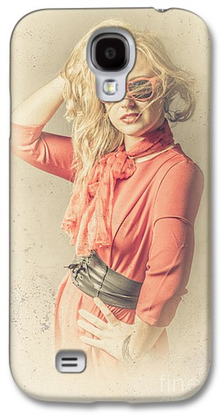 Photo Of Beautiful Girl In Vintage Fashion Style Galaxy S4 Case by Jorgo Photography - Wall Art Gallery