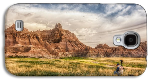 Photographer Waiting For The Badlands Light Galaxy S4 Case