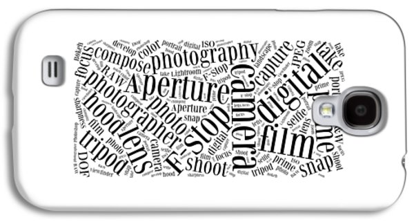 Photography Word Cloud Galaxy S4 Case