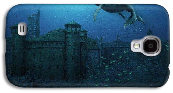 Piazza Castello Con Balene Galaxy S4 Case by Andrea Gatti