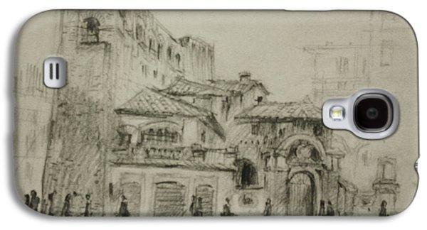 Piazza Fiume Rome Galaxy S4 Case by Ylli Haruni