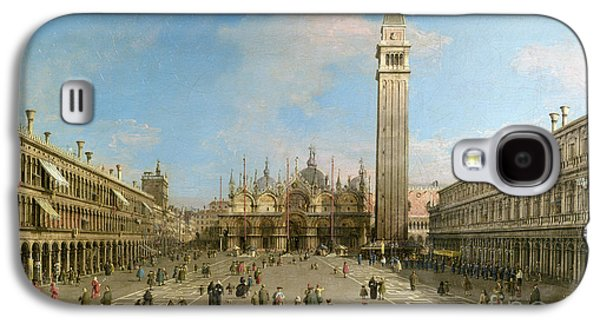 Piazza San Marco Looking Towards The Basilica Di San Marco  Galaxy S4 Case by Canaletto