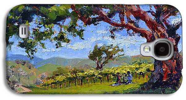 Picnic In The Vineyard Galaxy S4 Case