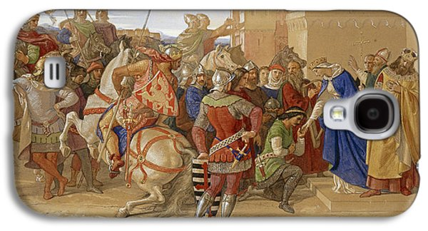 Piety - The Knights Of The Round Table Galaxy S4 Case by William Dyce
