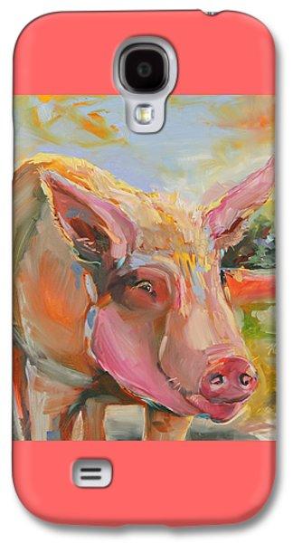 Pig Latin Galaxy S4 Case by Kim Guthrie