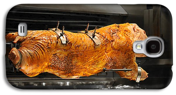 Spit Galaxy S4 Cases - Pig plus Barbecue equals Mmmm Good Galaxy S4 Case by Christine Till