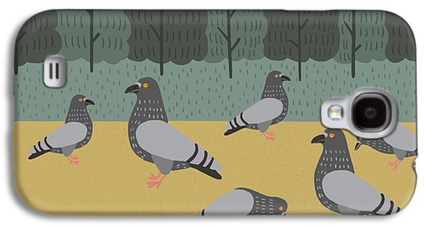 Pigeon Galaxy S4 Case - Pigeons Day Out by Nicole Wilson