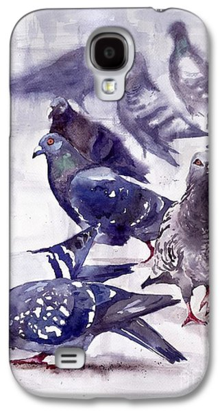 Dove Galaxy S4 Case - Pigeons Watercolor by Suzann's Art