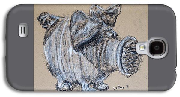 Piggy Bank Drawing By Caffrey Fielding Galaxy S4 Case by Edward Fielding