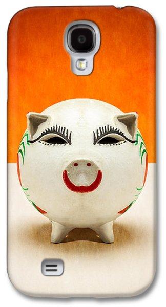 Piggy Bank Smile Galaxy S4 Case by Yo Pedro
