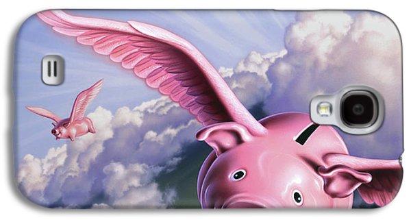 Pigs Away Galaxy S4 Case by Jerry LoFaro