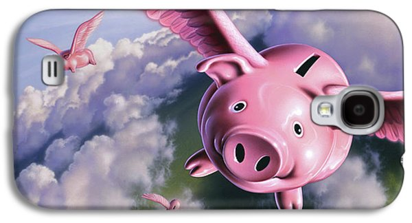 Pig Galaxy S4 Case - Pigs Away by Jerry LoFaro