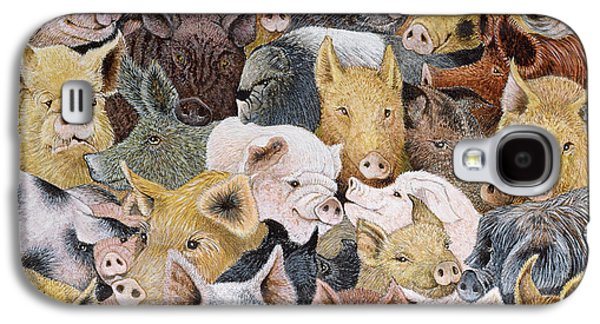 Pigs Galore Galaxy S4 Case by Pat Scott