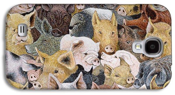 Pigs Galore Galaxy S4 Case by Pat Scott