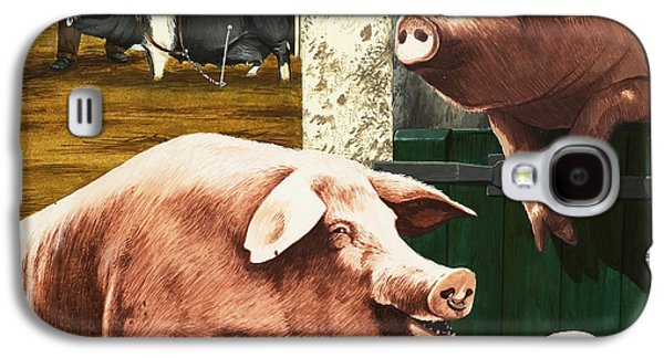Pigs Galaxy S4 Case by Janet Blakeley