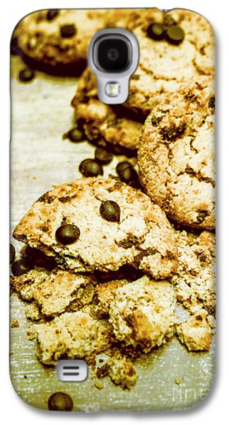 Pile Of Crumbled Chocolate Chip Cookies On Table Galaxy S4 Case by Jorgo Photography - Wall Art Gallery