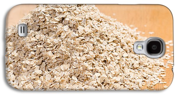 Pile Of Dried Rolled Oat Flakes Spilled  Galaxy S4 Case by Arletta Cwalina