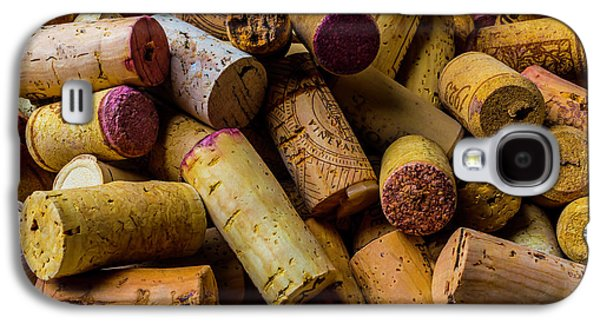 Pile Of Wine Corks Galaxy S4 Case by Garry Gay