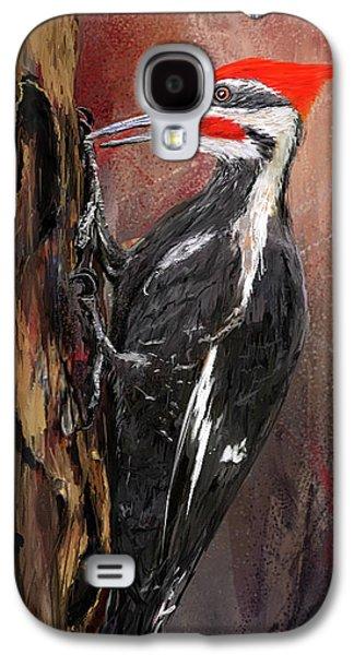 Pileated Woodpecker Art Galaxy S4 Case