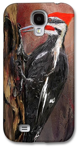 Pileated Woodpecker Art Galaxy S4 Case by Lourry Legarde
