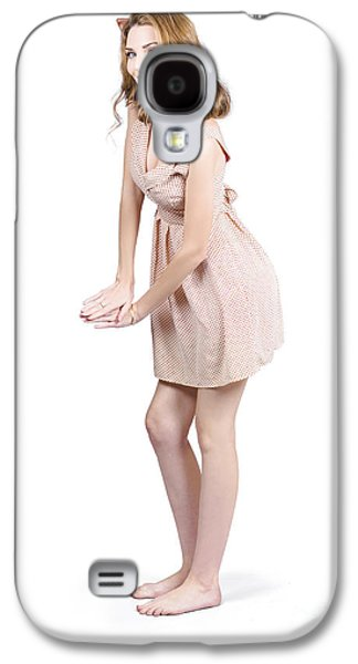 Pin Up Portrait Of A Beautiful Model Girl Galaxy S4 Case by Jorgo Photography - Wall Art Gallery