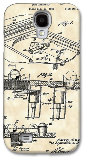 Pinball Machine Patent 1939 - Vintage Galaxy S4 Case by Stephen Younts