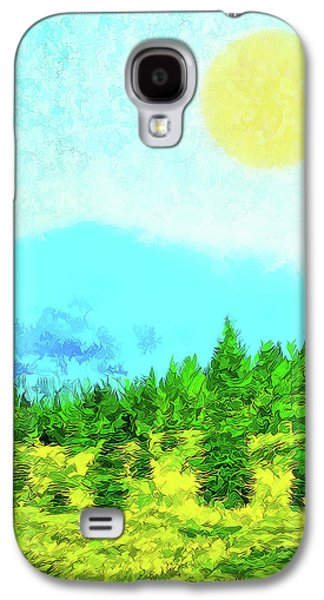 Pine Tree Mountain Blue - Shasta California Galaxy S4 Case