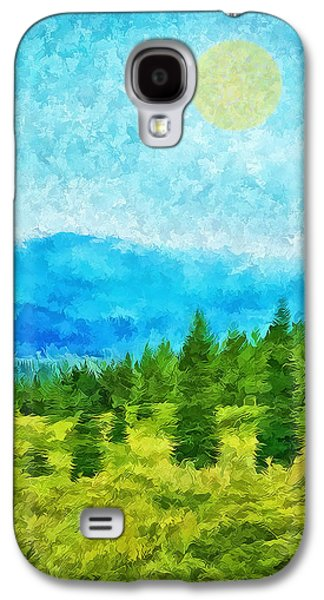 Pine Tree Mountain Blue - Shasta California Galaxy S4 Case by Joel Bruce Wallach