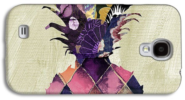 Pineapple Brocade II Galaxy S4 Case by Mindy Sommers
