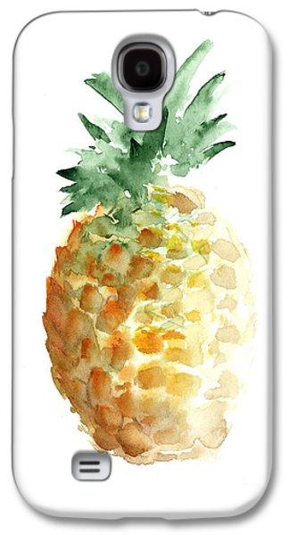 Pineapple Watercolor Minimalist Painting Galaxy S4 Case by Joanna Szmerdt