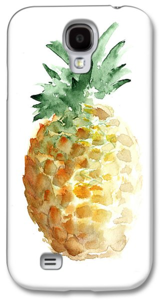 Pineapple Watercolor Minimalist Painting Galaxy S4 Case