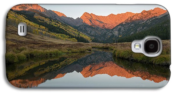 Galaxy S4 Case featuring the photograph Piney River Autumn Sunrise by Aaron Spong