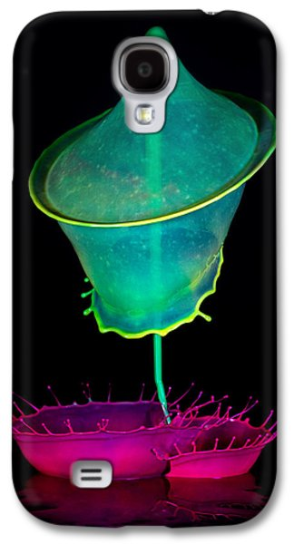 Pink And Green Composition Galaxy S4 Case by Jaroslaw Blaminsky