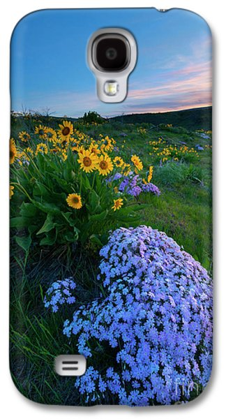 Pink And Yellow Sunset Galaxy S4 Case by Mike Dawson