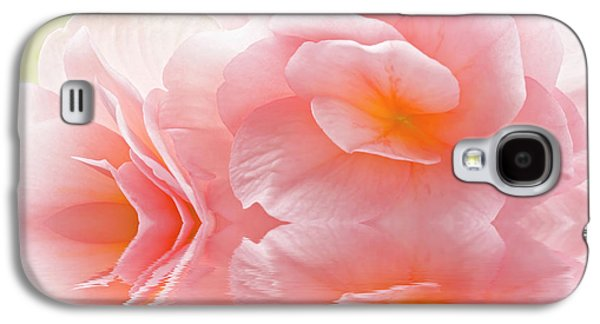 Pink Begonia Reflection 1 Macro Galaxy S4 Case