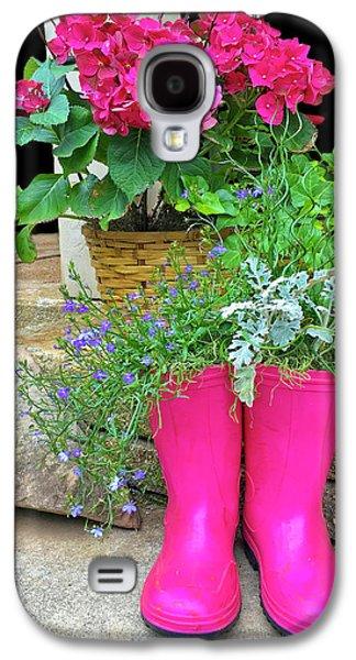 Pink Boots Galaxy S4 Case by Susan Leggett