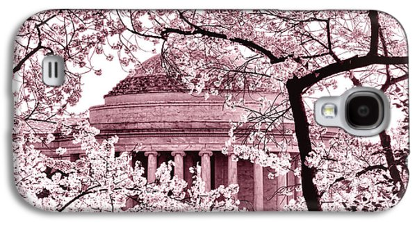Pink Cherry Trees At The Jefferson Memorial Galaxy S4 Case by Olivier Le Queinec
